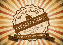 Vector coffee grunge retro vintage label