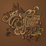Vector coffee hand lettering Stock Photo