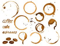 Vector coffee house menu or list design . Royalty Free Stock Image