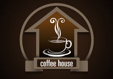 Vector, Coffee House symbol Royalty Free Stock Photos