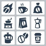 Vector coffee icons set Royalty Free Stock Image