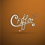 Vector coffee label with calligraphy for your logo Stock Images