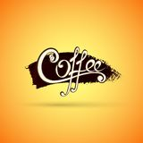 Vector coffee label for your logo Royalty Free Stock Image
