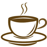 Vector Coffee logo. On white background Royalty Free Stock Image