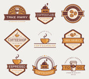 Vector coffee logos. Royalty Free Stock Photos