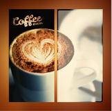 Vector coffee menu. For restaurant, cafe, coffeehouse. Vector coffee menu. For restaurant, cafe bar coffeehouse Royalty Free Stock Photos