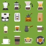 Vector coffee method and type of coffee Stock Photos