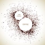 Vector Coffee. Vector natural coffee texture. Vector coffee. Organic frame background. Food texture. Coffee splash background Vector Illustration