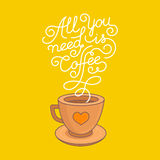Vector coffee poster Stock Photography