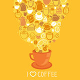 Vector coffee poster Royalty Free Stock Images