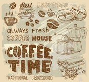 Vector coffee Stock Photography