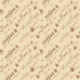 Vector coffee seamless background Royalty Free Stock Images