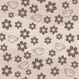Vector coffee seamless background Stock Image