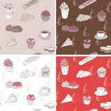 Vector coffee seamless pattern Royalty Free Stock Image