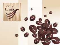 Vector coffee set. Template design of coffee shop menu with logo & coffee bean icons for coffee cafe & restaurant ( file Stock Photography