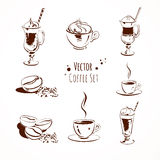 Vector coffee set Royalty Free Stock Photography