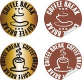 Vector coffee stamp set Stock Photos