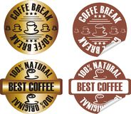 Vector coffee stamp set Stock Images