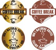 Vector coffee stamp set Royalty Free Stock Photo