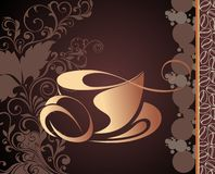 Vector coffee,tea background Royalty Free Stock Photography
