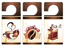 Vector coffee,tea banners Stock Image