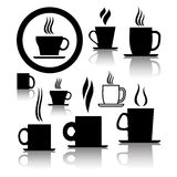 vector coffee and tea cup icons and symbols Stock Photo