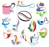 Vector coffee,tea cup set Royalty Free Stock Photos