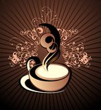 Vector coffee,tea floral background Royalty Free Stock Image