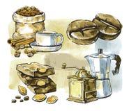 Vector coffee theme Stock Photography