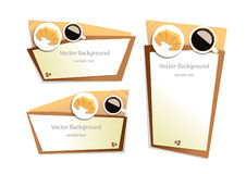 Vector coffee top view background graphic Stock Image