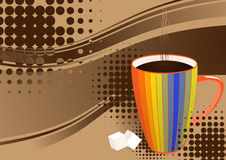 Vector coffee for your promotion. Vector coffee with minimal background Stock Photography