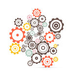 Vector cogs - gears illustration royalty free illustration