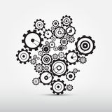 Vector Cogs - Gears Illustration Stock Images