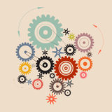 Vector Cogs - Gears Illustration Royalty Free Stock Image