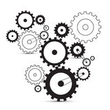Vector cogs - gears Stock Photo