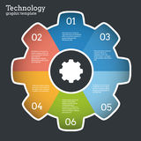 Vector cogwheel banner. Stock Photography