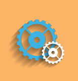 Vector cogwheel flat icon Stock Photo