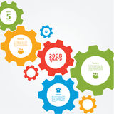 Vector cogwheel template. Cogwheel connection, teamwork. Stock Image
