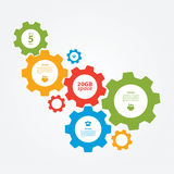 Vector cogwheel template. Cogwheel connection, teamwork. Stock Images