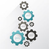 Vector cogwheel template. Cogwheel connection, teamwork. Colorfully creative template with space for your content Royalty Free Stock Images