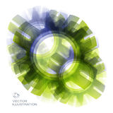 Vector cogwheels template. Abstract for internet Stock Photography