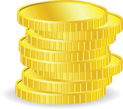 Vector coins Royalty Free Stock Images