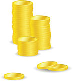 Vector coins Royalty Free Stock Photography