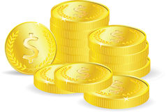 Vector coins Stock Images