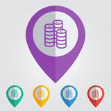 Vector coins flat. File format eps 10 Royalty Free Stock Photo