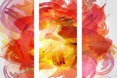 Vector a coleção das formas da bandeira isolada no fundo branco Cursos abstratos tirados mão da escova de pintura ajustados ilustração stock