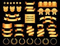 Vector a coleção de elementos decorativos do projeto - fitas, quadros, etiquetas, etiquetas ilustração stock