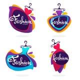 Vector a coleção do boutique da forma e armazene o logotipo, etiqueta, emb ilustração do vetor