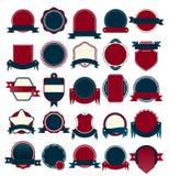 Vector a coleção do crachá para a etiqueta da venda e da garantia ilustração royalty free