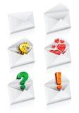 Vector a coleção do envelope do correio dos ícones ilustração do vetor